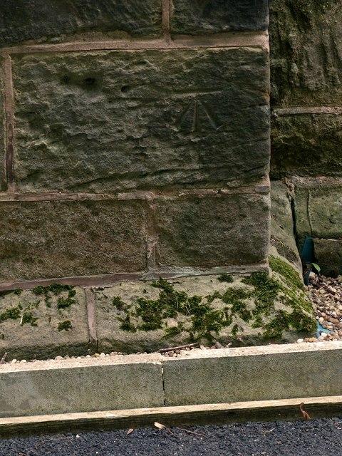 Bench mark, St Andrew's Church, Stanley