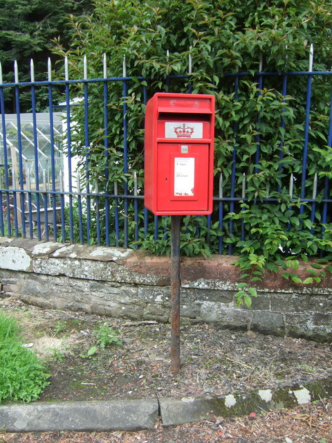 Elizabethan postbox on the A72, Torwoodlee