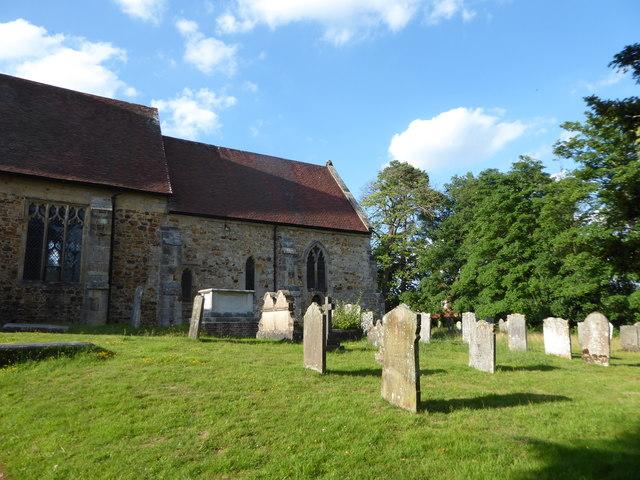 Pembury Old Church: gravestones