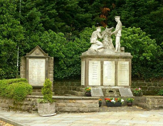 War memorials at West Hallam