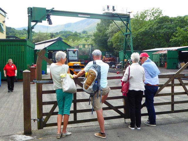 Waiting for the train at Snowdon Mountain Railway