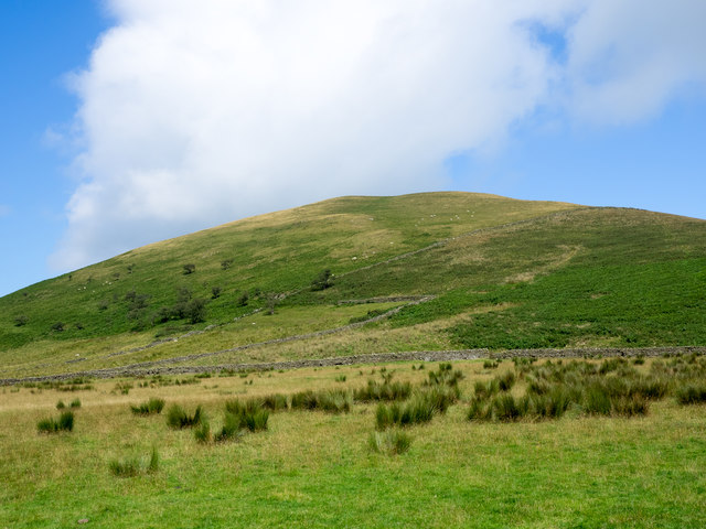 Slope rising towards Knock Pike
