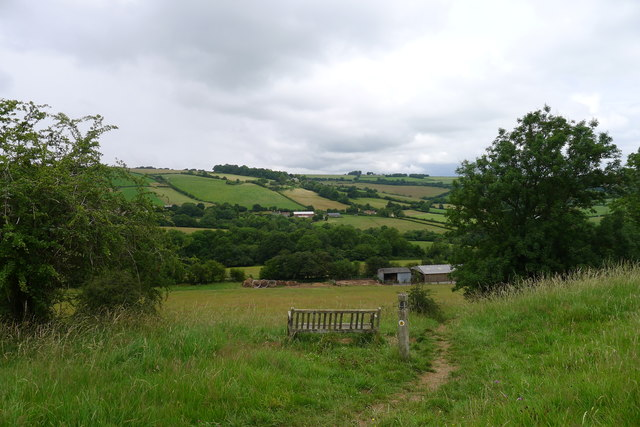 The Cotswold Way descending from Lansdown Hill