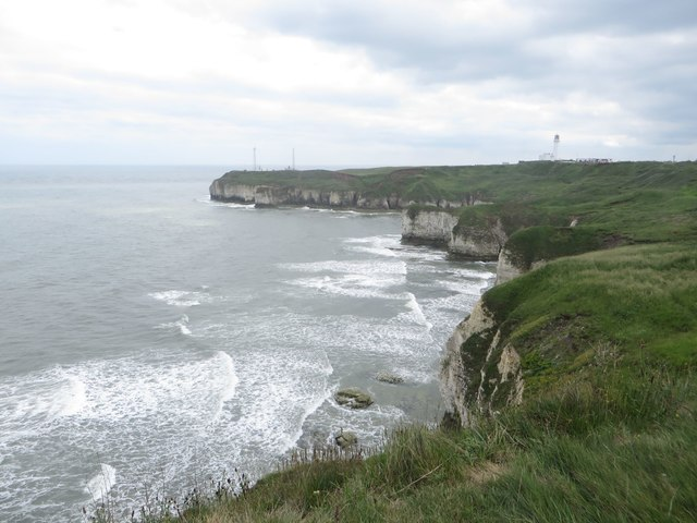 View along the clifftops towards Flamborough Head