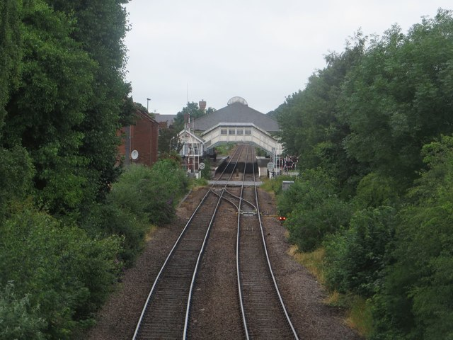 Looking along the track to Beverley Station