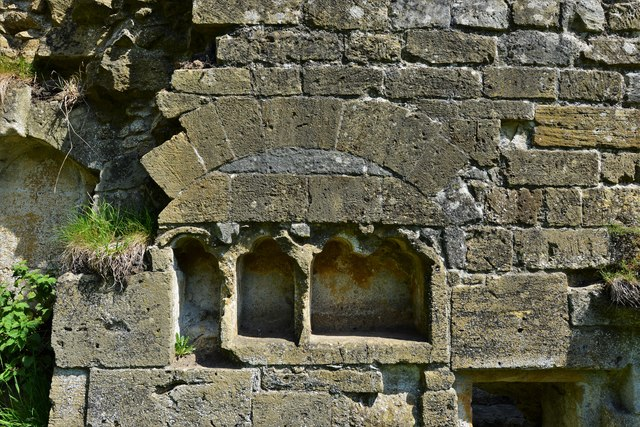 Hailes Abbey: Cupboards in the Monks' Dining Hall (Refectory)