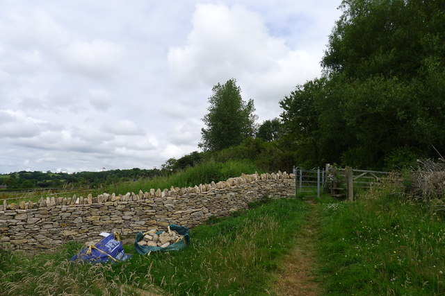 New drystone wall and gate