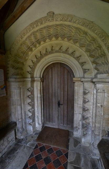 Little Barrington, St. Peter's Church: The Norman south doorway