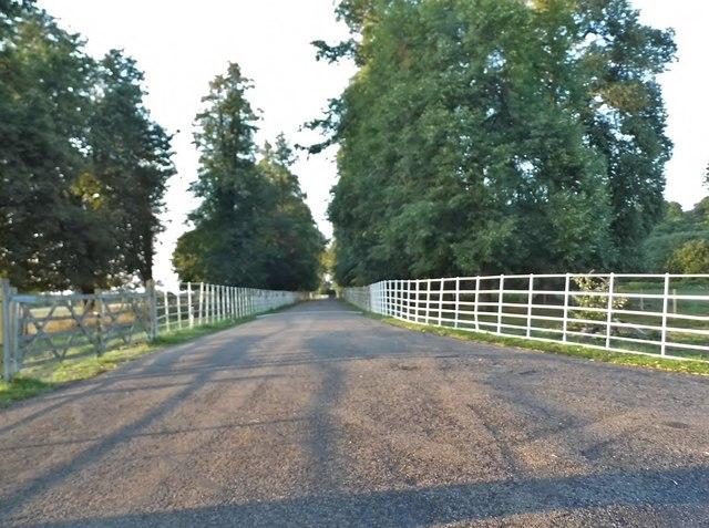 The road to Childwick Bury