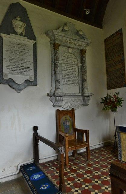 Little Barrington, St. Peter's Church: Monuments in the sanctuary