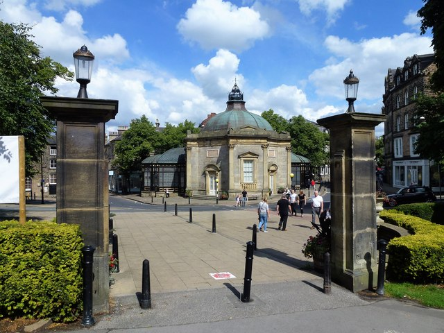 The entrance to Valley Gardens in Harrogate