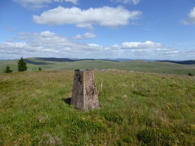 Trig point on Hitteril Hill