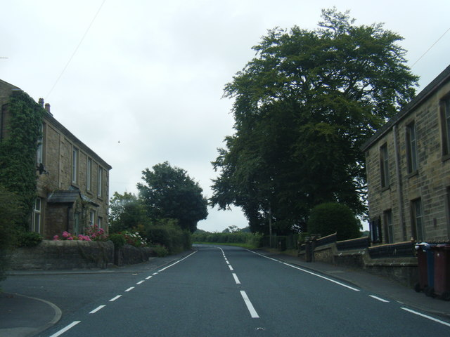 B6243 Clitheroe Road in Knowle Green