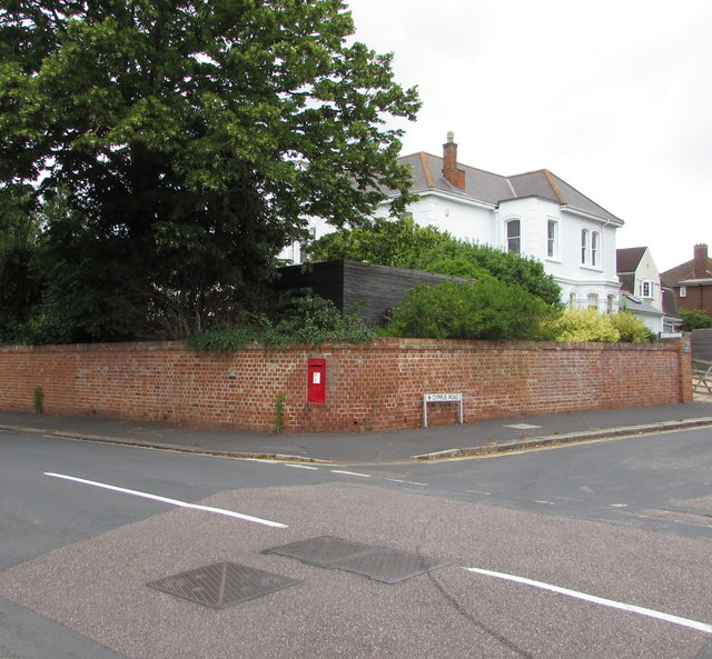 King George V postbox in an Exmouth wall