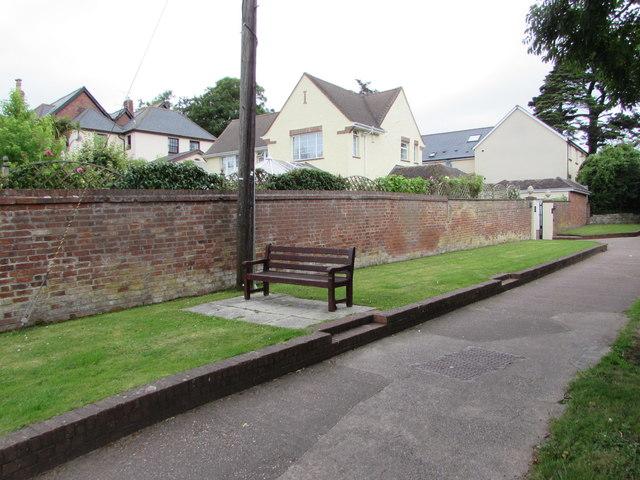 Lime Kiln Lane bench, Exmouth