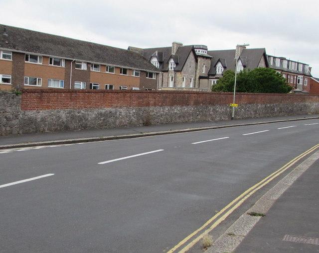 Stone and brick wall, Douglas Avenue, Exmouth