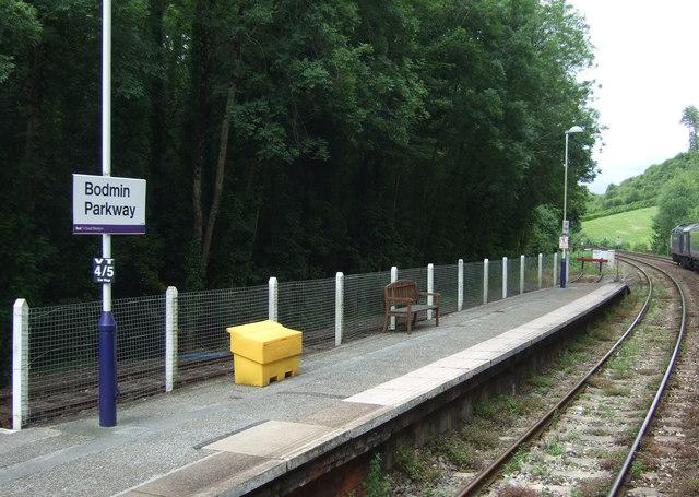 End of platform, Bodmin Parkway Railway Station