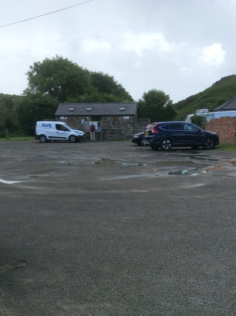 National Trust car park, Porthclais