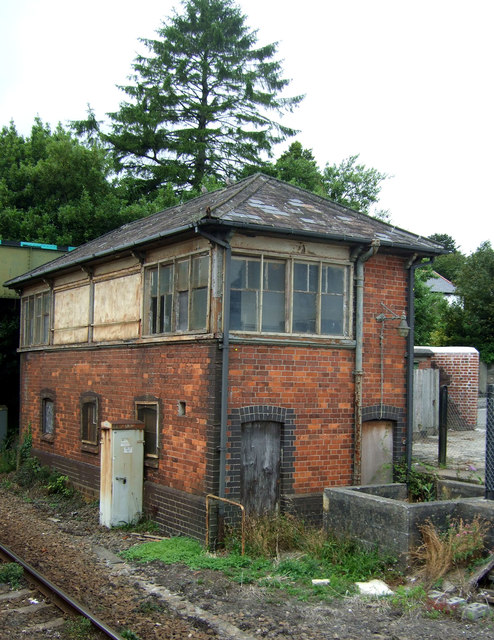 Disused signal box, St Austell Railway Station