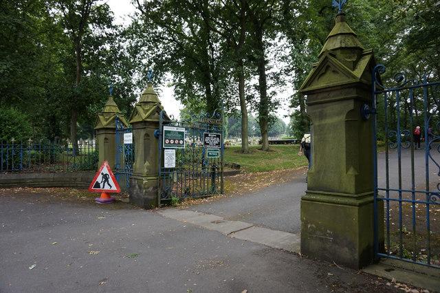 Entrance to Liversedge Cemetery