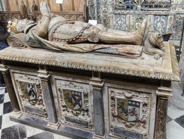 Tomb of Ambrose Dudley, St Mary's church, Warwick
