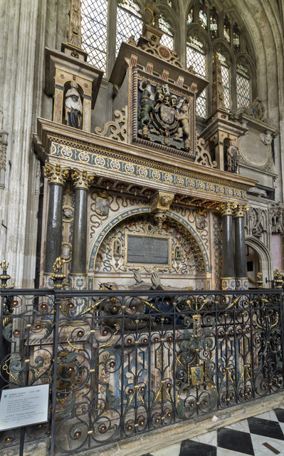 Tomb of Robert Dudley, St Mary's church, Warwick
