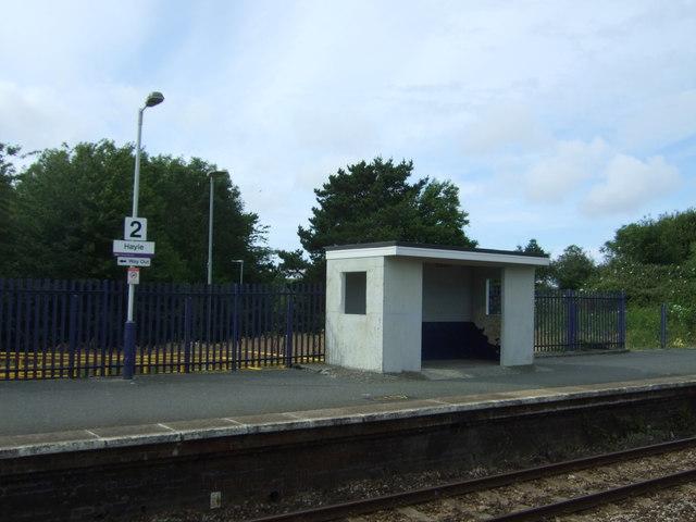 Shelter on Platform 2, Hayle Railway Station