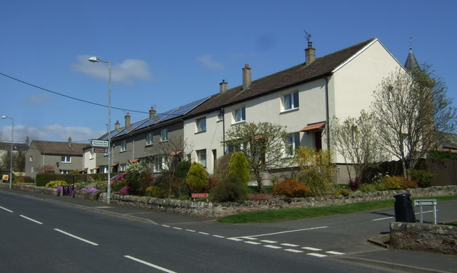 Houses on Duns Road, Greenlaw