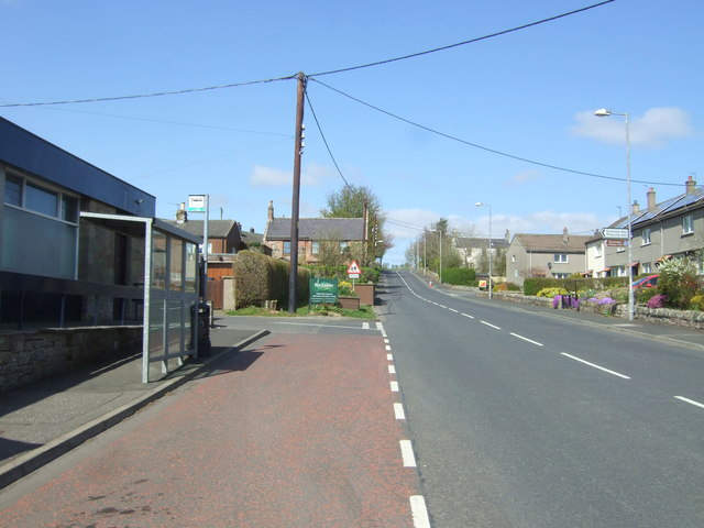 Bus stop and shelter on Duns Road, Greenlaw