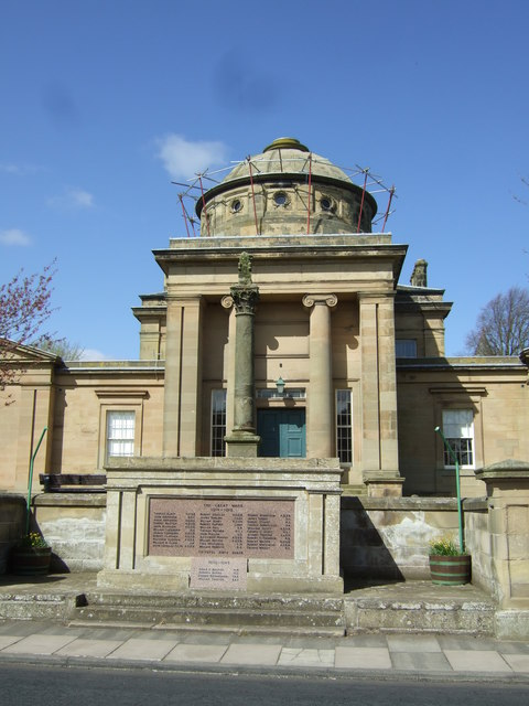 Former Courthouse and War Memorial, Greenlaw,