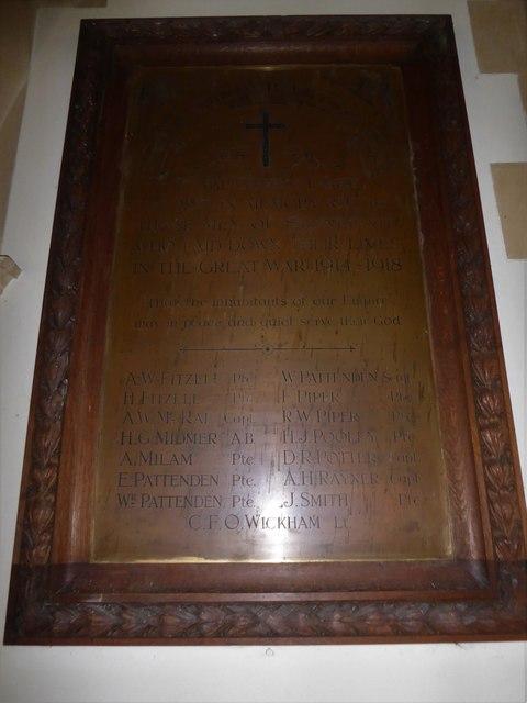 St. Peter, Stonegate: memorial (3)