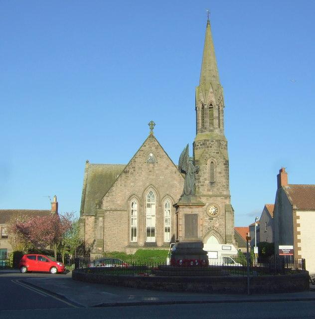 War Memorial and former church, Berwick