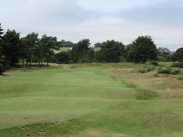 Scotscraig Golf Course, 7th hole, Plateau