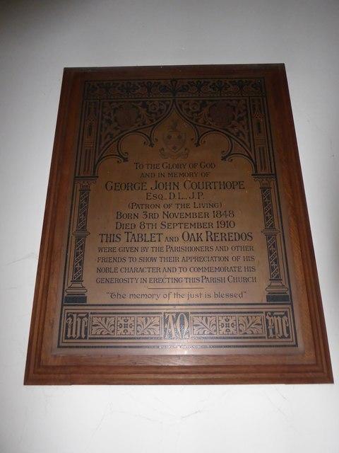 St. Peter, Stonegate: memorial (5)