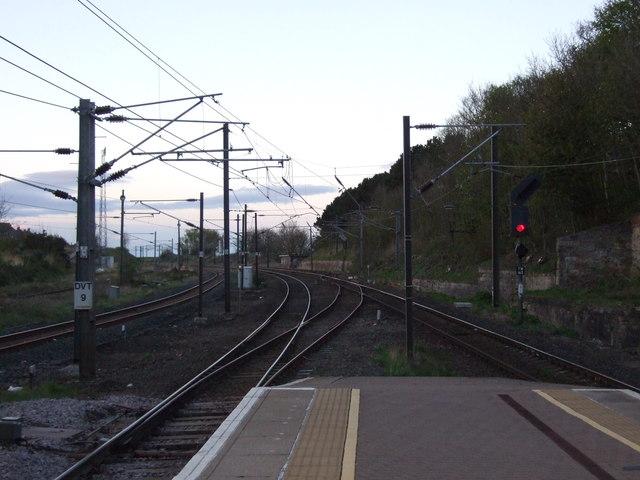 Railway towards Edinburgh