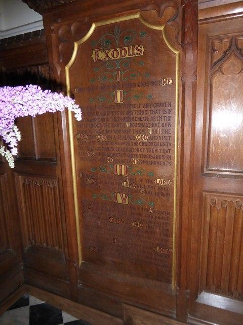 St. Peter, Stonegate: The Ten Commandments (I to IV)