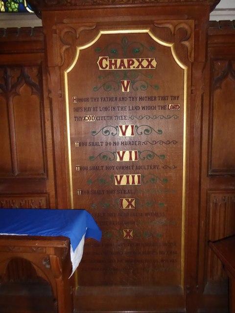 St. Peter, Stonegate: The Ten Commandments (V to X)