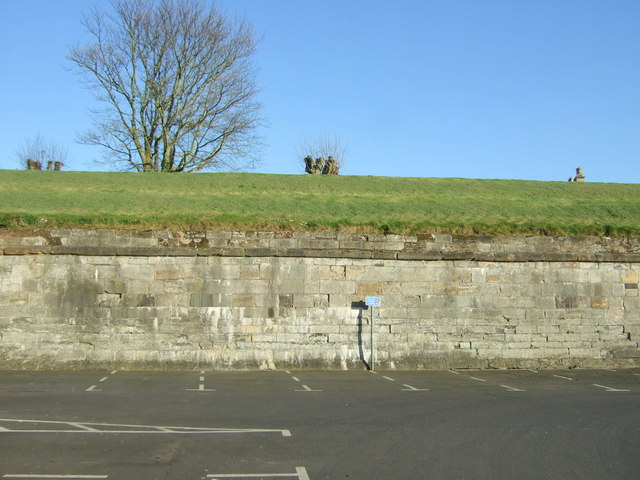 Car park and fortifications, Berwick