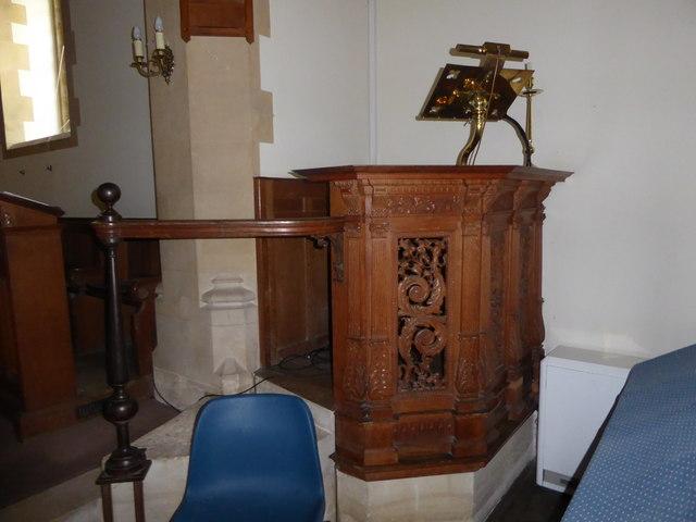 St. Peter, Stonegate:  pulpit
