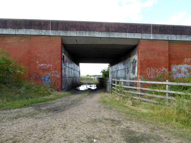 A30 bridge over Staines Moor access
