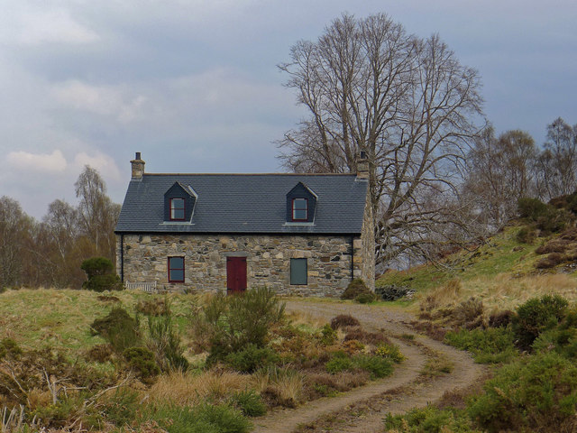 Cottage above Loch a' Chlarain