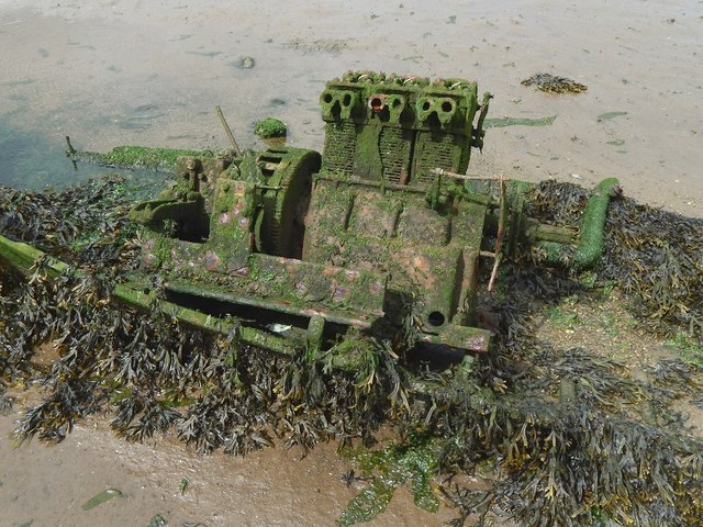 Engine of a wrecked boat