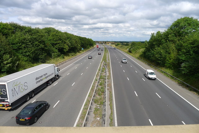 The M4 from the Marshfield Road bridge