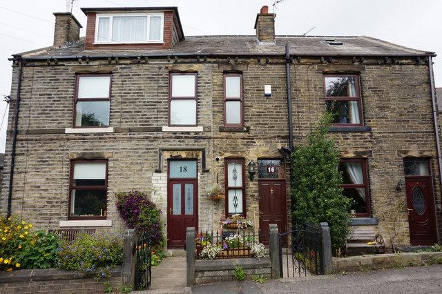 Houses on Ladywell Lane, Hartshead