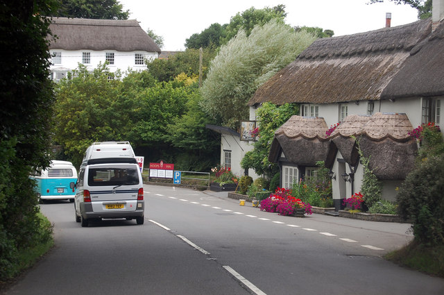 A39 passing The Hoops Inn