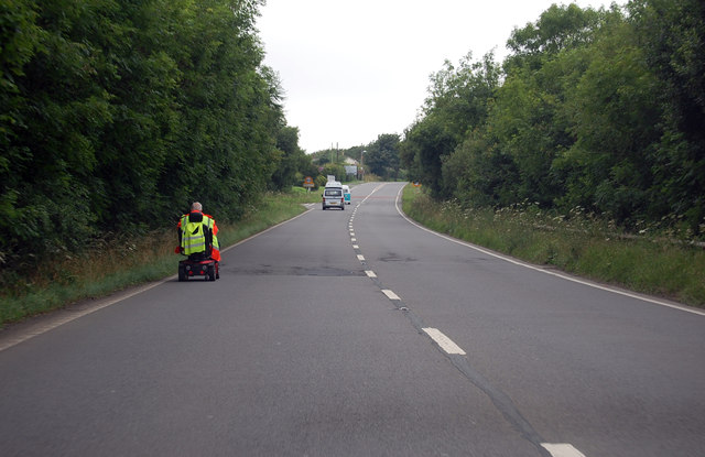 Mobility scooter on the A39