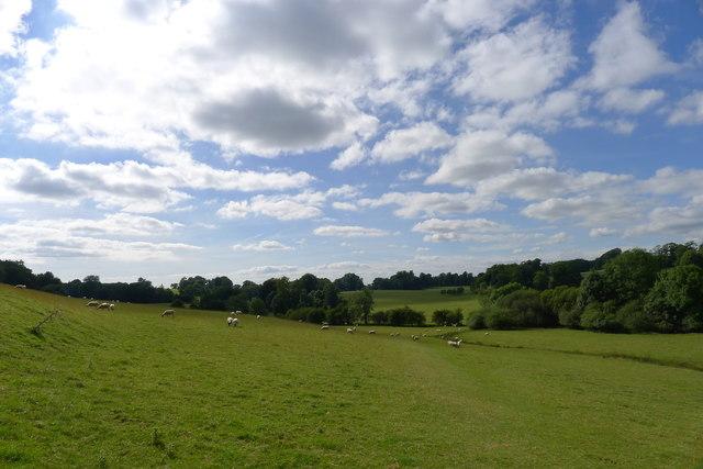 The Cotswold Way entering Dodington Park