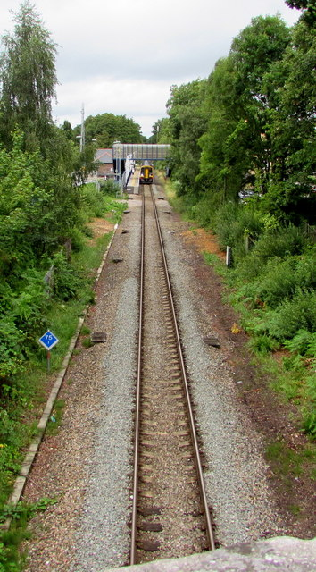 Single track line towards Chandler's Ford railway station