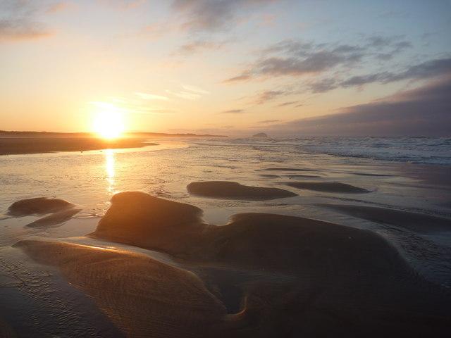 Coastal East Lothian : Sunset, Belhaven Bay