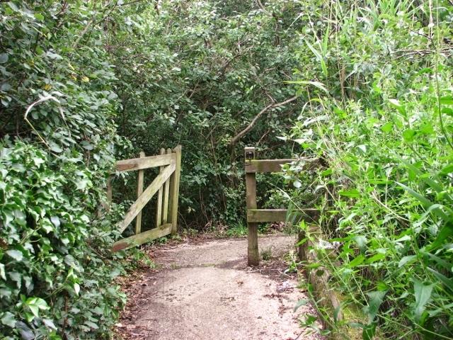 Gate on a public footpath in St Olaves